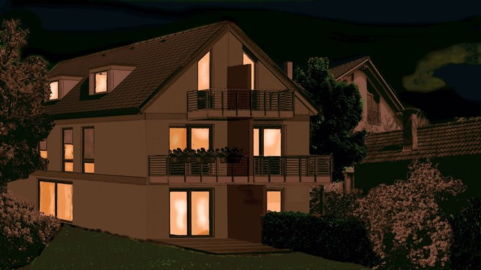 neubau architekten doppelhaush lften in wessling. Black Bedroom Furniture Sets. Home Design Ideas